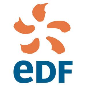 Logo EDF - Référence client - Jérôme Adam - Conférencier Entrepreneur