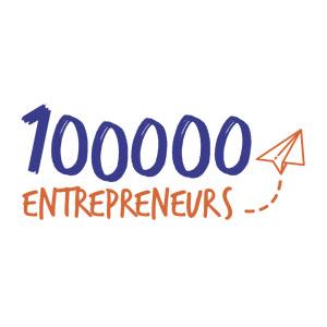 Logo 100000 Entrepreneurs - Je soutiens - Jérôme Adam - Conférencier Entrepreneur