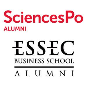Logo SciencesPo Alumni et Logo Essec Alumni - Je soutiens - Jérôme Adam - Conférencier Entrepreneur