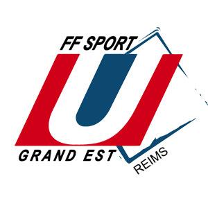Logo FF Sport U Grand EST - Je soutiens - Jérôme Adam - Conférencier Entrepreneur