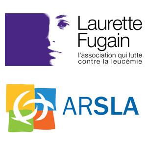 Logo Laurette Fugain et logo ARSLA - Je soutiens - Jérôme Adam - Conférencier Entrepreneur