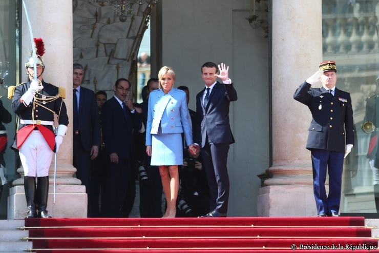 Emmanuel Macron après son élection à la présidence de la république