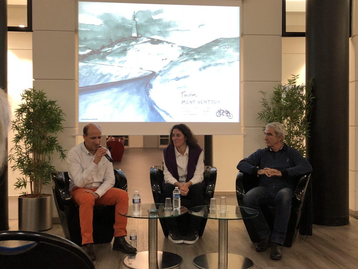 Photo de la table ronde avec Jérôme Adam, Laurence Fischer et Raymond Domenech à l'ESSEC